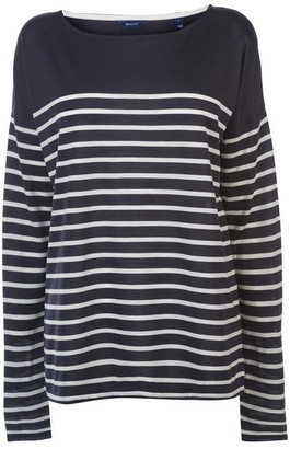 Gant Gang Long Sleeve Striped Top Womens
