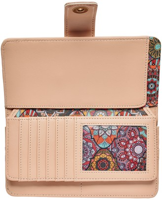 Bay Sky by San Diego Hat Co. Large ID Blush Wallet