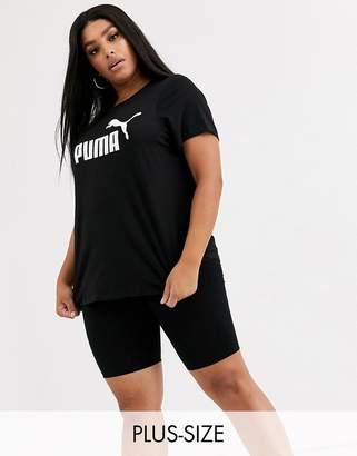 Puma Plus Essentials black logo tee