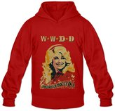 Fire-Dog-Custom Tees Men's Dolly Parton Singer Poster Sweater Size M