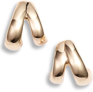 Halogen Double 16mm Huggie Hoop Earrings