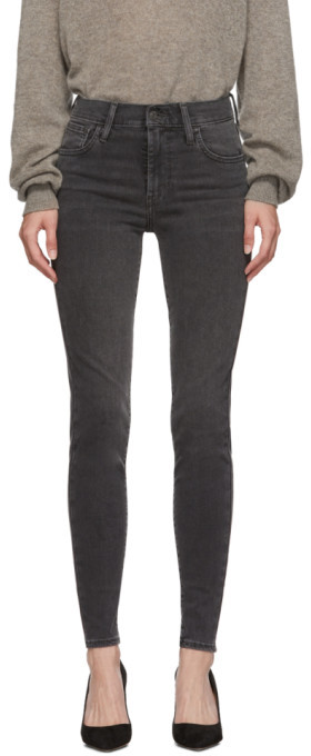 Levi's Levis Black High-Rise Super Skinny Jeans