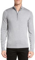 John Smedley 'Tapton' Quarter Zip Merino Wool Sweater