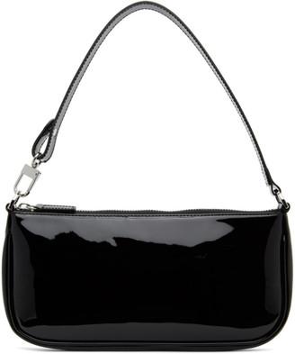 BY FAR Black Patent Rachel Shoulder Bag