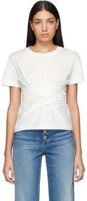 Rag & Bone White Aimie Tie T-Shirt