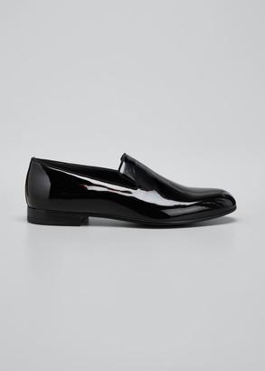 Giorgio Armani Men's Patent Formal Slip-Ons