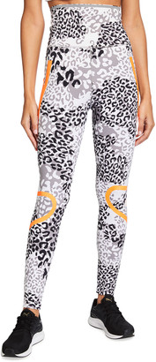 adidas by Stella McCartney Truepace Animal Print High-Waist Active Tights