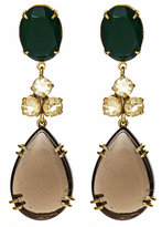 Bounkit Smoky Topaz and Green Onyx Drop Earrings