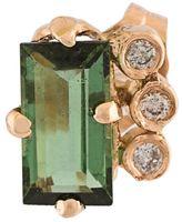 Jacquie Aiche '3 Diamond Baguette' stud earring