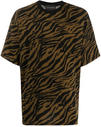 Yuiki Shimoji oversized tiger print T-shirt