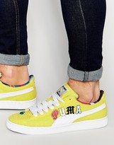 Puma X Dee And Ricky Basket Trainers In Yellow 36008401