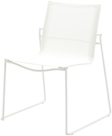 Houseology Gloster Asta Stacking Chair - White Frame - White