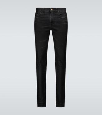 Saint Laurent Skinny-fit coated jeans
