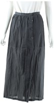 Issey Miyake Grey Wool Skirts