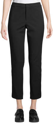 Vince Side-Strap Straight-Leg Cropped Trousers