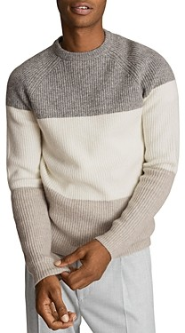 Reiss Colorblocked Striped Sweater