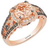LeVian Le Vian Chocolatier 14K Rose Gold 1.89 Ct. Tw. White & Brown Diamond & Morganite Ring