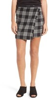 Madewell Women's Plaid Wrap Miniskirt
