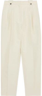 Paco Rabanne Pleated Cotton-blend Tapered Pants
