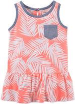 Carter's Sleeveless Palm Print Peplum Tunic - Preschool Girls 4-7