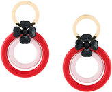 Marni hoop flower earrings