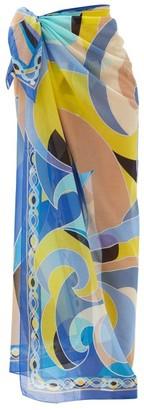 Emilio Pucci Quirimbas-print Cotton-voile Sarong - Blue Multi