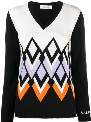 Valentino V-logo remake V-neck knitwear