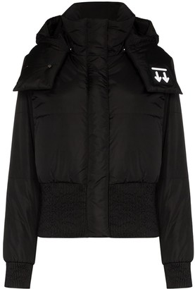 Off-White High Neck Long Sleeve Down Jacket