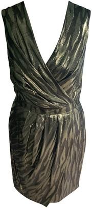 Mulberry Gold Silk Dress for Women