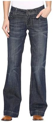 Stetson Denim Trouser S on Back Pocket (Blue) Women's Jeans
