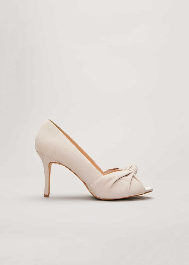 Phase Eight Sonja Suede Peep Toe Shoe