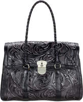 Patricia Nash Tuscan Tooled Vienna Top-Flap Large Satchel