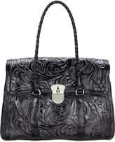 Patricia Nash Tuscan Tooled Vienna Top-Flap Large Shoulder Bag