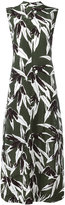 Marni Swash print high neck dress - women - Viscose - 38