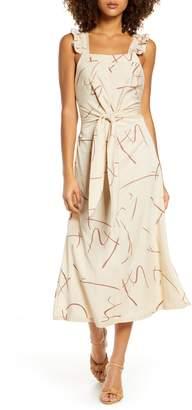 SANCIA Ines Sleeveless Tie Front Sundress