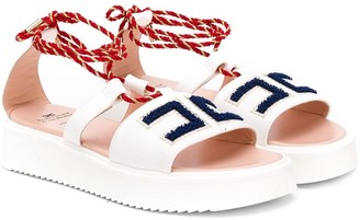 Elisabetta Franchi La Mia Bambina logo detail sandals