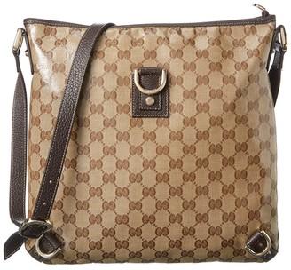 Gucci Brown Gg Canvas Abbey D-Ring Messenger Bag