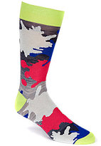 Daniel Cremieux Splatter Paint Crew Dress Socks