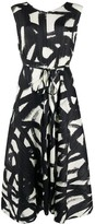 Pleats Please Issey Miyake graphic print pleated dress