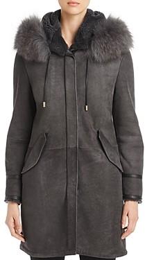 Herno Novelty Hooded Shearling Jacket
