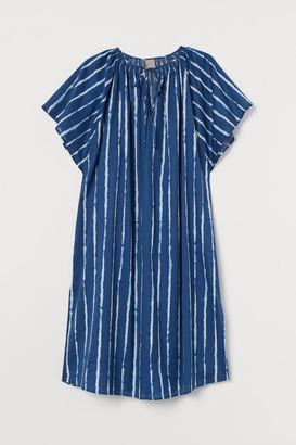 H&M H&M+ Wide-cut Cotton Dress - Blue