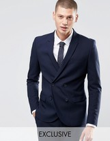 ONLY & SONS Skinny Double Breasted Blazer with Stretch