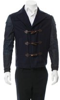 DSQUARED2 Denim-Trimmed Wool Toggle Jacket