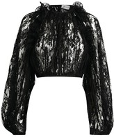 Magda Butrym Hefei Sheer Lace Crop Top