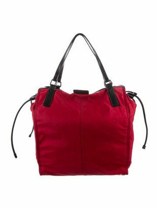 Burberry Buckleigh Nylon Tote Red
