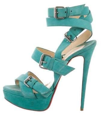 Christian Louboutin Platform Multistrap Sandals
