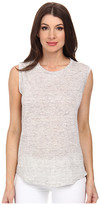 Michael Stars Linen Knit High-Low Muscle Tank Top