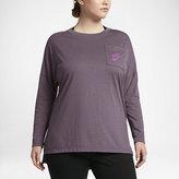 Nike Sportswear Signal Women's Long Sleeve Top (Plus Size 1X-3X)