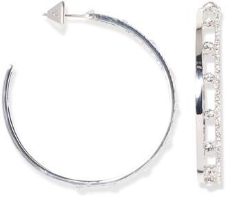 Large Pave Cutout Hoops