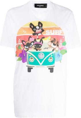 DSQUARED2 'Surf' graphic T-shirt